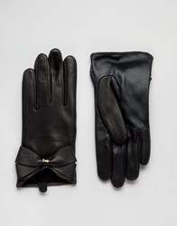 Ted Baker Large Leather Gloves Black