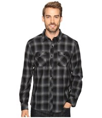 Icebreaker Lodge Long Sleeve Flannel Shirt Metro Heather Stealth Black Men's Clothing