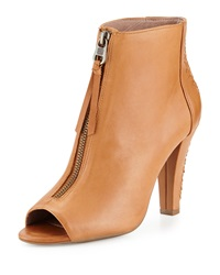 Elliott Lucca Antonia Woven Zip Up Bootie Tobacco