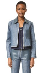 Edun Denim Cropped Jacket Cobalt