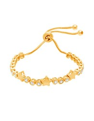 Lord And Taylor Cubic Zirconia Circle Station Star Slider Bracelet Gold
