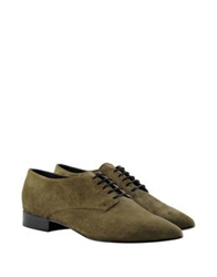 George J. Love Lace Up Shoes Military Green