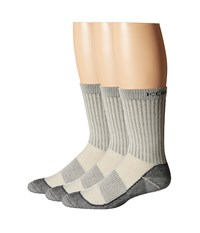 Icebreaker Hike Basic Med Crew 3 Pair Pack Silver Black Oil Men's Crew Cut Socks Shoes Gray