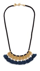 Madewell Tassel Statement Necklace With Cord Vintage Gold