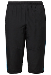 Adidas Performance 3 4 Sports Trousers Black Solar Blue