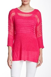 Miraclebody Jeans Drew Two Piece Boatneck Sweater Pink