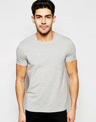 Selected Homme Stretch T Shirt Light Grey Marl