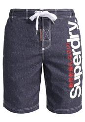 Superdry Swimming Shorts Navy Grit Dark Blue