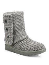 Ugg Classic Cardy Knit Boots Grey Black
