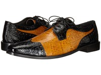 Stacy Adams Galletti Black Butterscotch Men's Lace Up Wing Tip Shoes
