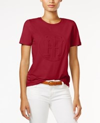 Tommy Hilfiger Logo Graphic T Shirt Only At Macy's Scarlet