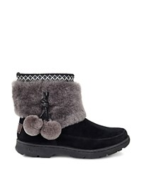 Ugg Brie Sheepskin Pom Pom Booties Black