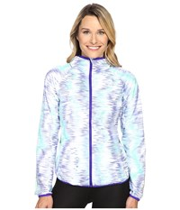 New Balance Windcheater Jacket Spectral Tech Print Women's Coat White