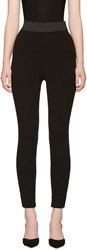 Dolce And Gabbana Black Stretch Wool Leggings