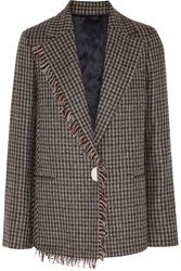 Acne Studios Checked Wool Tweed Blazer