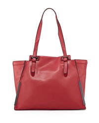 French Connection Finn Faux Leather Tote Bag Morello