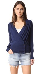 Tory Burch Kendall Wool Cardigan Royal Navy