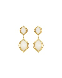 Elizabeth Showers Simone Double Drop Earrings W Mother Of Pearl And Diamonds