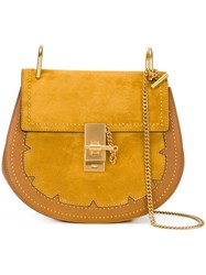 Chloe Studded 'Drew' Shoulder Bag Yellow And Orange