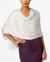 Inc International Concepts Metallic Stripe Scarf Only At Macy's Silver