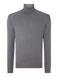 Chester Barrie Merino Roll Neck Grey