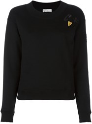 Sonia Rykiel 'Heart' Chest Patch Sweatshirt Black
