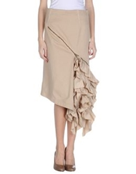 Collection Privee 3 4 Length Skirts Beige