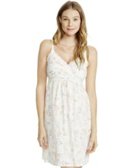Jessica Simpson Nursing Floral Print Nightgown Watercolor Floral