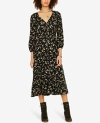 Denim And Supply Ralph Lauren Floral Print Midi Dress Linden Floral
