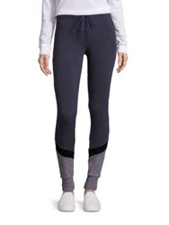 Sundry Colorblock Skinny Sweatpants Heather Charcoal