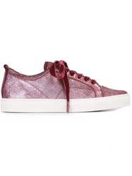Lanvin Toe Cap Sneakers Pink And Purple
