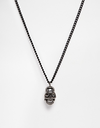 Icon Brand Skull Necklace Black