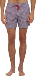 Roda Fish Print Swim Trunks Pink