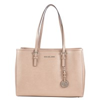 Michael Michael Kors Jet Set Travel Large East West Leather Tote Bag Ballet