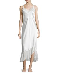 Oscar De La Renta Always A Bride Lace Nightgown Pure White Women's