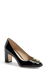 Women's Tory Burch 'Raleigh' Patent Leather Pump Black