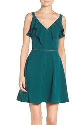 Adelyn Rae Women's Fit And Flare Dress Green