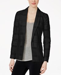 Armani Exchange Long Sleeve Textured Blazer Solid Black