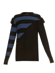 Sonia Rykiel Bi Colour Intarsia Cashmere Knit Sweater