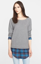 Soft Joie 'Keala' Raglan Sleeve Sweatshirt Heather Grey