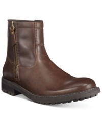 Unlisted By Kenneth Cole Men's C Roam Plain Toe Boots Men's Shoes Brown