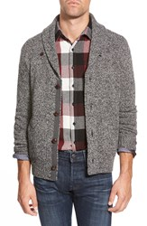 Eddie Bauer 'Elberton Ilaria Urbinati Collection' Trim Fit Marled Button Front Cardigan Carbon
