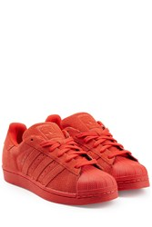 Adidas Originals Leather Superstar Sneakers Red