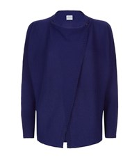 Armani Collezioni Cashmere Asymmetric Wrap Cardigan Female Blue