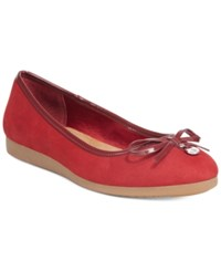 Giani Bernini Odeysa Memory Foam Ballet Flats Only At Macy's Women's Shoes Sailor Red