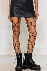 Nasty Gal Look From London Net Play Cutout Tights