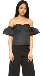 Re Named Over The Shoulder Top Black