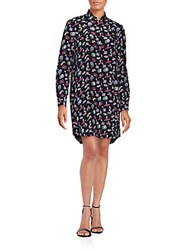 Zadig And Voltaire Tom Printed Tunic Black