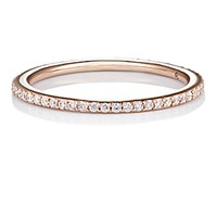 Raphaele Canot Women's Pink Gold Skinny Deco Eternity Ring No Color