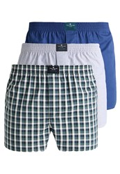 Tom Tailor 3 Pack Boxer Shorts Blue Green Royal Blue